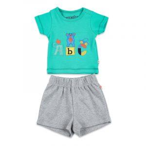 A-B-C Tshirt and Shorts Set