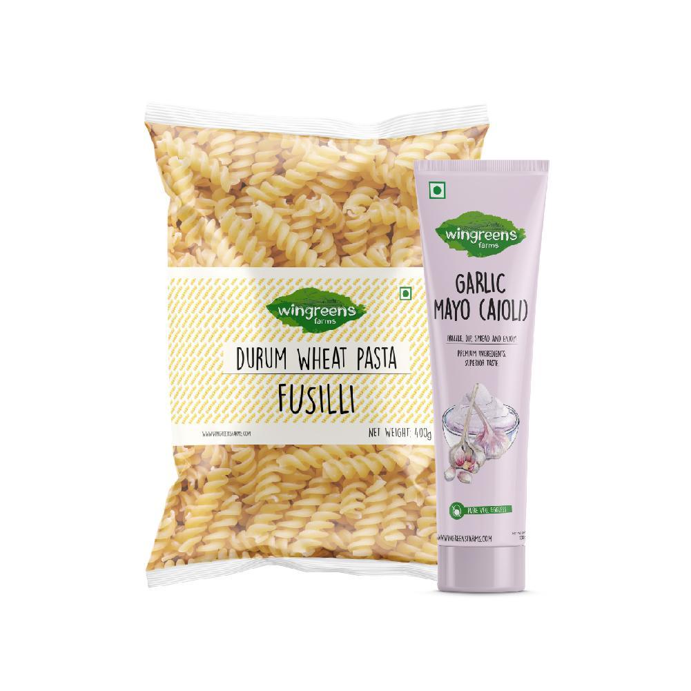 Durum Wheat Pasta – Fusilli (400g) with Garlic Mayo (130g)