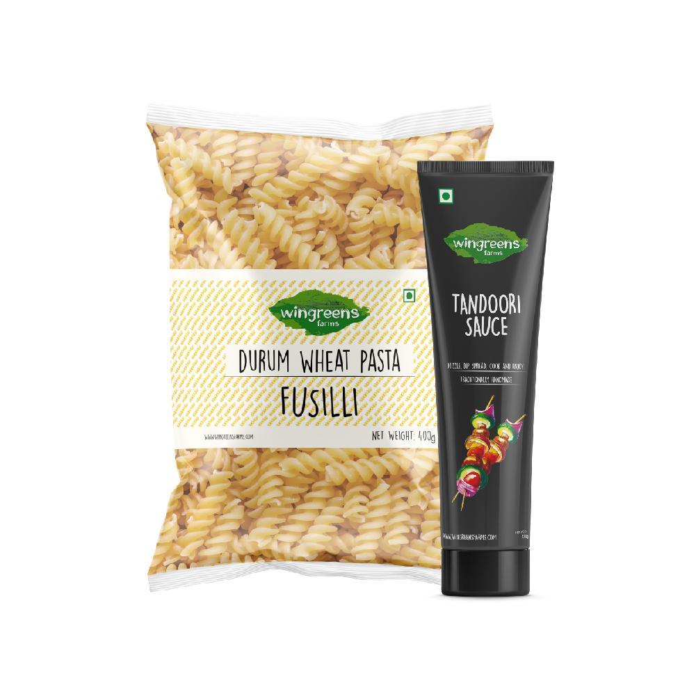 Durum Wheat Pasta - Fusilli (400g) with Tandoori Sauce (130g)