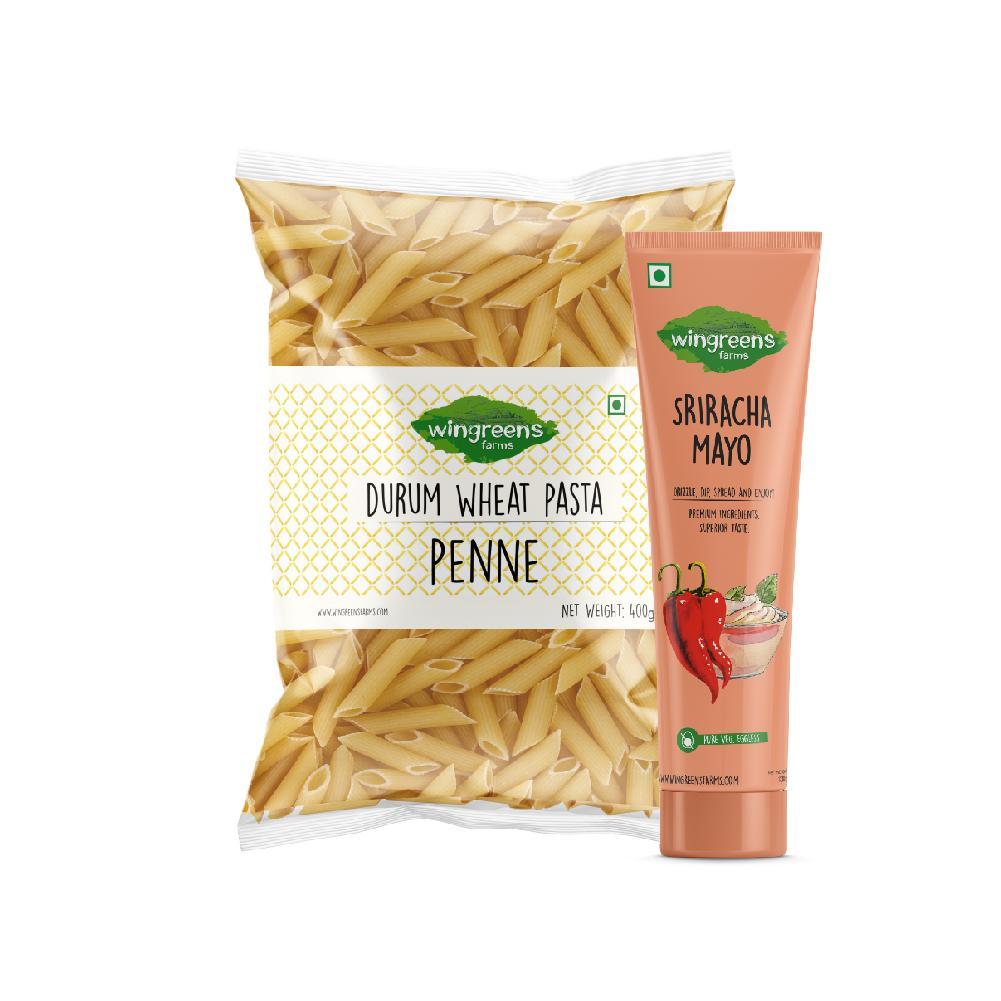 Durum Wheat Pasta - Penne (400g) with Sriracha Mayo (130g)
