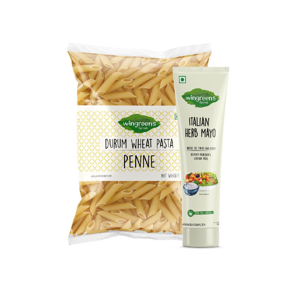 Durum Wheat Pasta - Penne (400g) with Italian Herb Mayo, (130g)