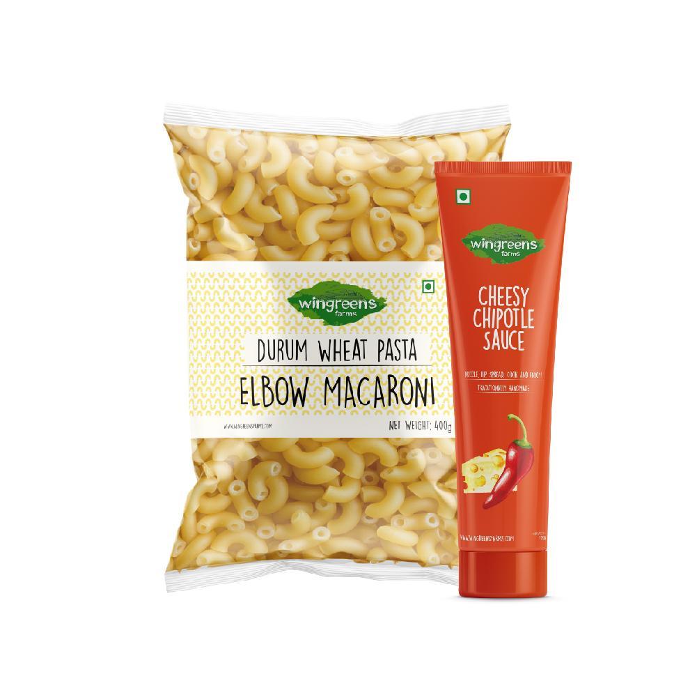 Durum Wheat Pasta - Elbow Macaroni (400g) with Cheesy Chipotle Sauce (130g)