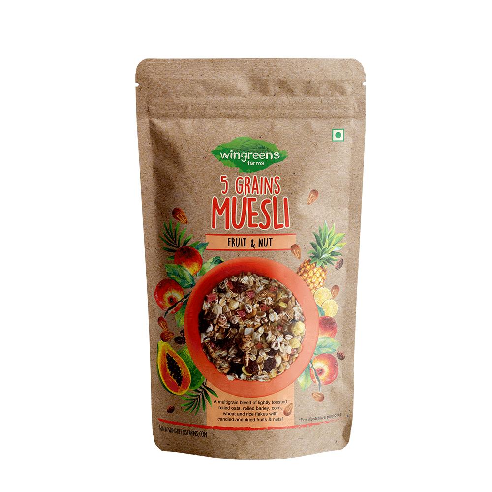 5-Grains Muesli – Fruit & Nut, 400g