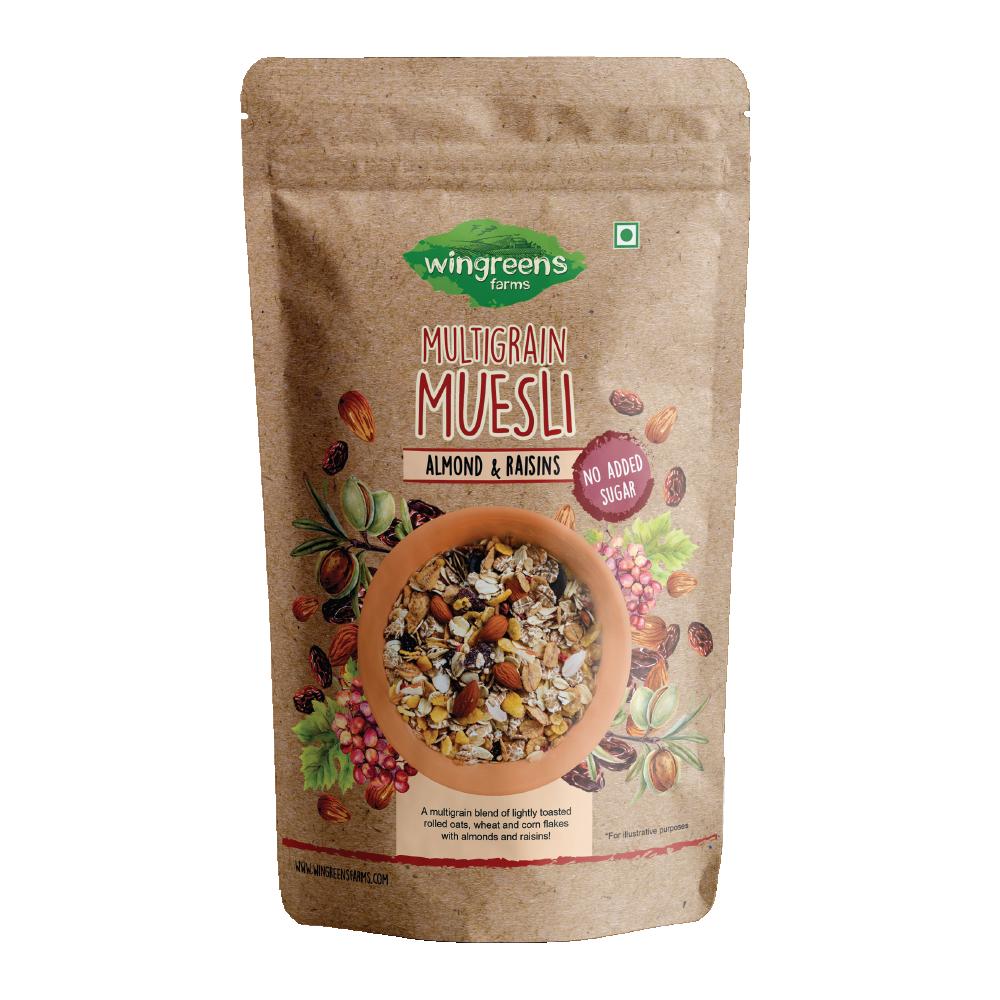 Multigrain Muesli – Almonds & Raisins (No Sugar Added) (400g)
