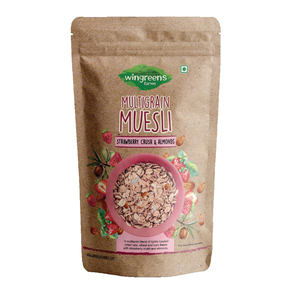 Multigrain Muesli - Strawberry Crush & Almonds (400g)