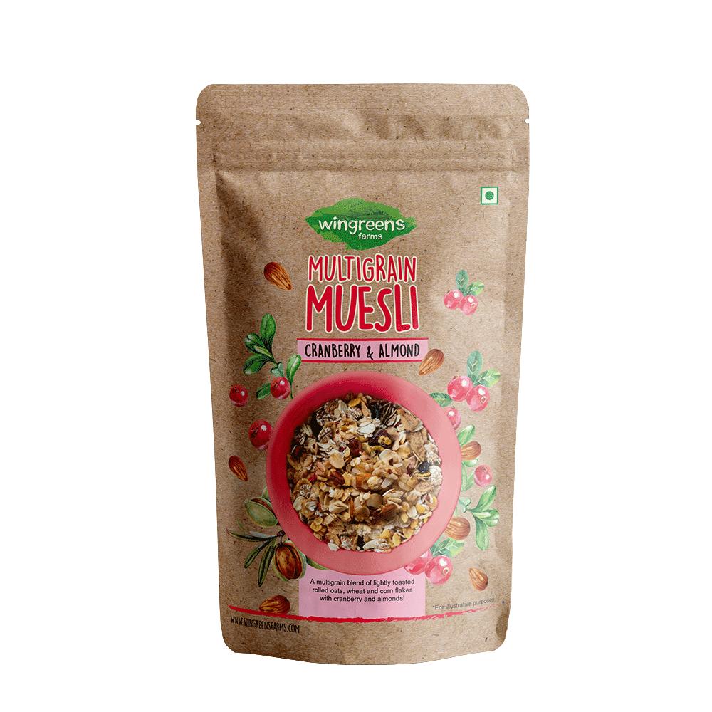 Multigrain Muesli – Cranberry & Almond (400g)