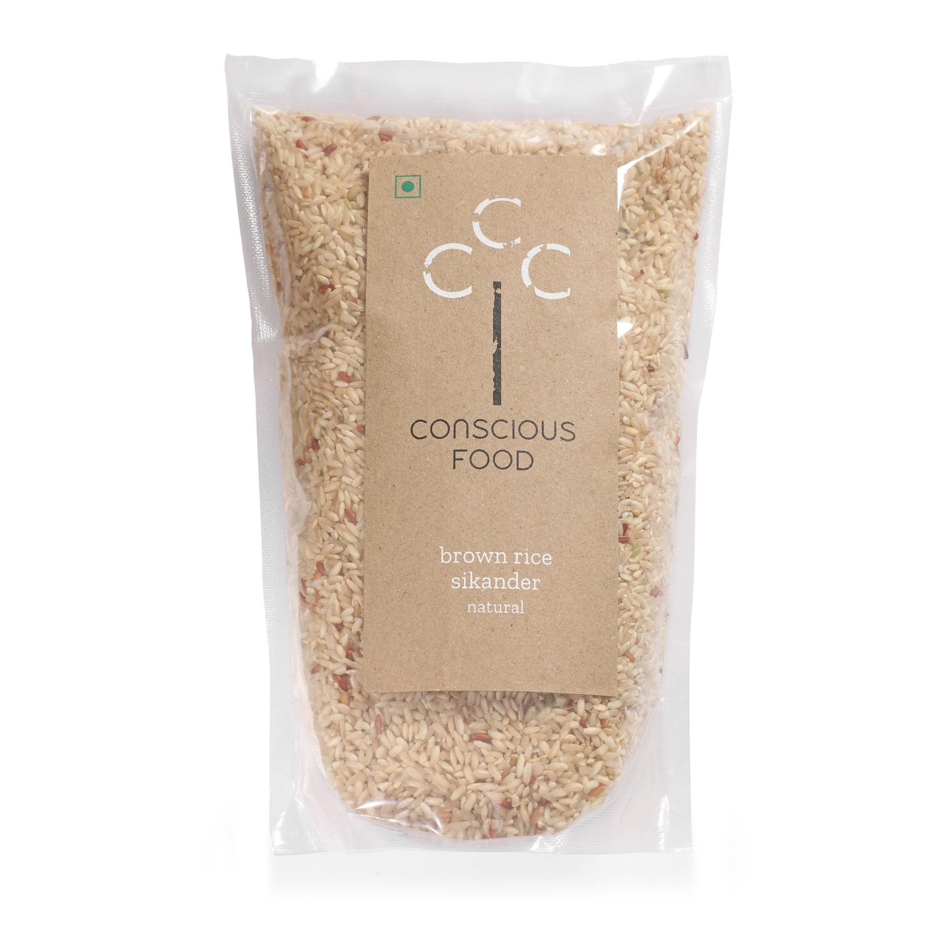 Conscious Food Natural Brown Rice (Sikander) 1 kg
