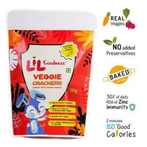 Multigrain Carrot crackers 100 g-pack of 4