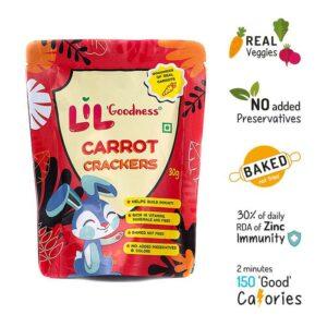 Multigrain Carrot crackers (30g) - Pack of 8