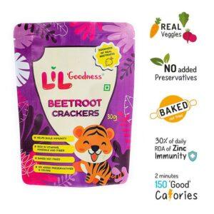 Multigrain Beetroot crackers (30 g) - Pack of 8