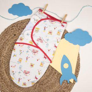 Kicks & Crawl- Circus Baby Ready Swaddle