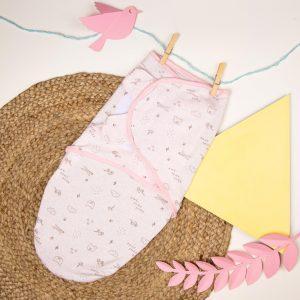 Kicks & Crawl- Baby Pink Ready Swaddle