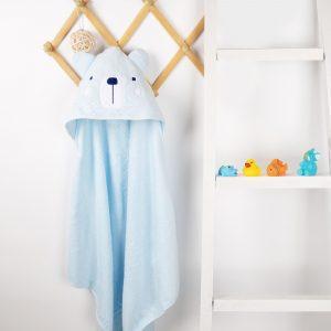 Kicks & Crawl- Snowy Bear Hooded Towel