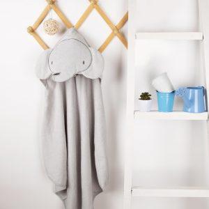 Kicks & Crawl- Baby Elephant Hooded Towel