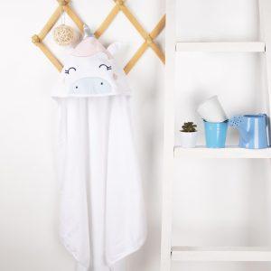 Kicks & Crawl- Magical Unicorn Hooded Towel