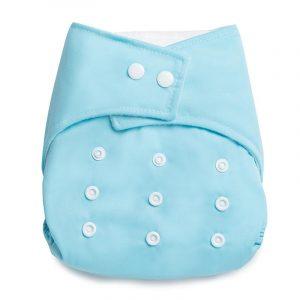 Kicks & Crawl- Reusable Baby Blue Cloth Diaper