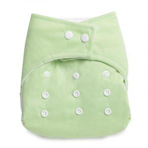 Kicks & Crawl- Reusable Green Cloth Diaper
