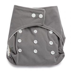 Kicks & Crawl- Reusable Grey Cloth Diaper