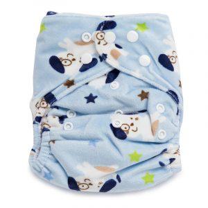 Kicks & Crawl- Friendly dog velvet Reusable Diaper