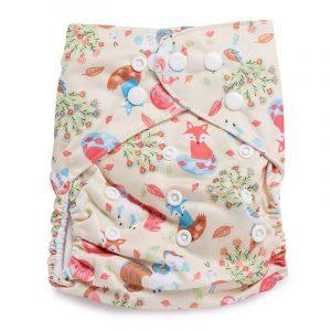 Kicks & Crawl- Unicorn and fox Reusable Diaper