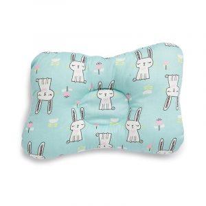 Kicks & Crawl- Green Kitty Baby Pillow