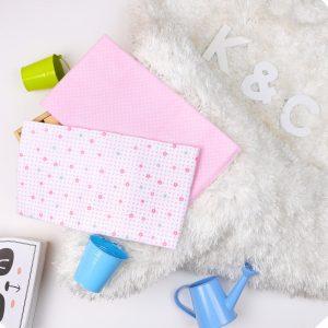 Kicks & Crawl- Floral Pink Waterproof Bed Sheet - 2 pack