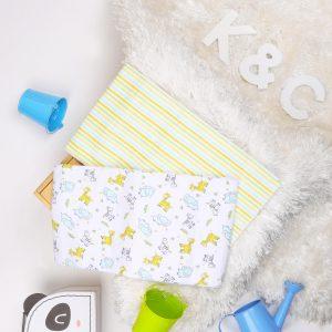 Kicks & Crawl- Jungle Baby Waterproof Bed Sheet - 2 pack