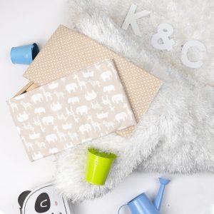 Kicks & Crawl- Baby Brown Waterproof Bed Sheet - 2 pack