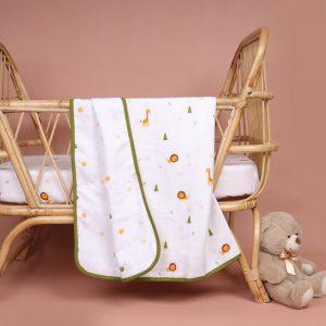 Kicks & Crawl- Forest Friends Organic Reversible Blanket