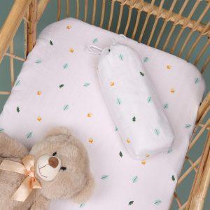 Kicks & Crawl- Nutty Nights Organic Crib sheet