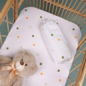 Kicks & Crawl- Baby Paws Organic Crib sheet