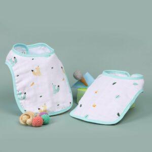 Kicks & Crawl- Baby Squirrel Organic Round Bibs (Pack of 2)