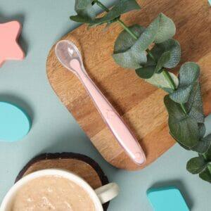 Kicks & Crawl- Peachy Long Silicone Spoon