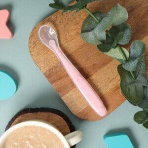 Kicks & Crawl- Pink Long Silicone Spoon
