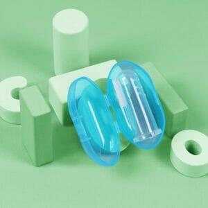 Kicks & Crawl- Baby Blue Finger Toothbrush with Case