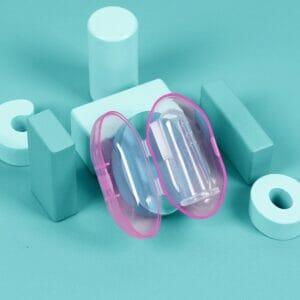 Kicks & Crawl- Purple Finger Toothbrush with Case