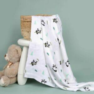 Kicks & Crawl- Baby Panda Bamboo Swaddle