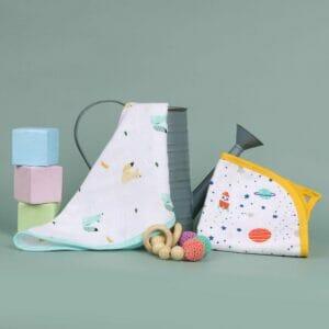 Kicks & Crawl- Baby Explorer Reversible Organic Wash Cloth (Pack of 2)