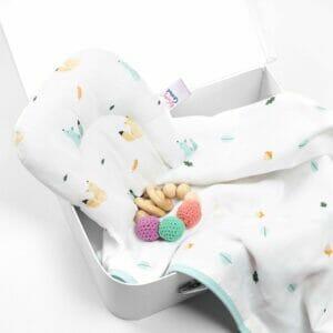 Kicks & Crawl- Friendly Squirrel Organic Baby Pillow