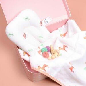 Kicks & Crawl- Sleepy Leaves Organic Baby Pillow
