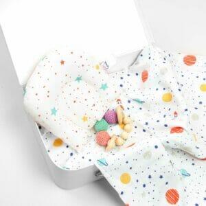 Kicks & Crawl- Starry Night Organic Baby Pillow