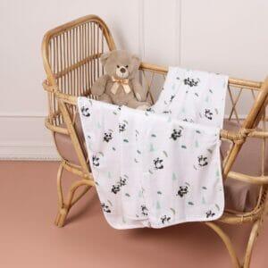 Kicks & Crawl- Baby Panda Bamboo Blankets