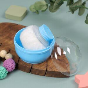 Kicks & Crawl- Cool Blue Baby Powder Puff