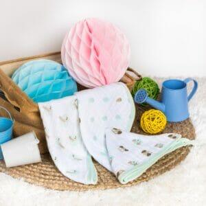 Kicks & Crawl- Minty Green 3 Pack Muslin Wash Cloths