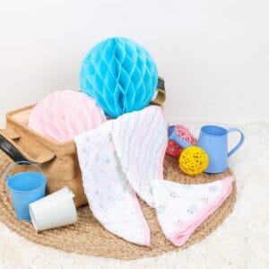 Kicks & Crawl- Pink Snails 3 Pack Muslin Wash Cloths