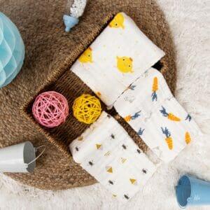 Kicks & Crawl- Bath Duck Cotton wash cloth PO3