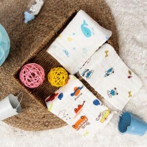 Kicks & Crawl- Playtime Cotton wash cloth PO3