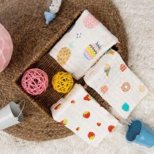 Kicks & Crawl- Sweet Baby Cotton wash cloth PO3