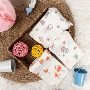 Kicks & Crawl- Cute Animals Cotton wash cloth PO3