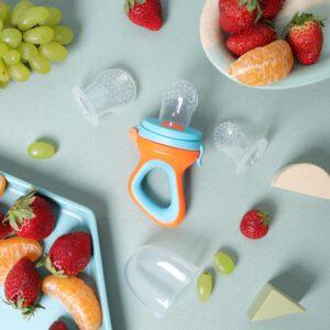 Kicks & Crawl- Blue & Orange Fruit Feeder & Nibbler